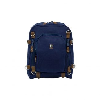 Duży, niebieski plecak z konopi