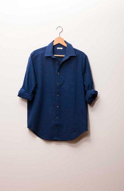Niebieska koszula marynarska z konopi